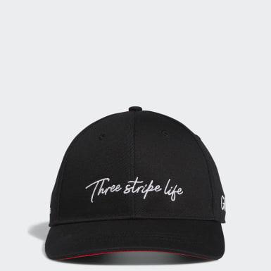 ผู้ชาย กอล์ฟ สีดำ หมวกแก๊ป 3-Stripe Life