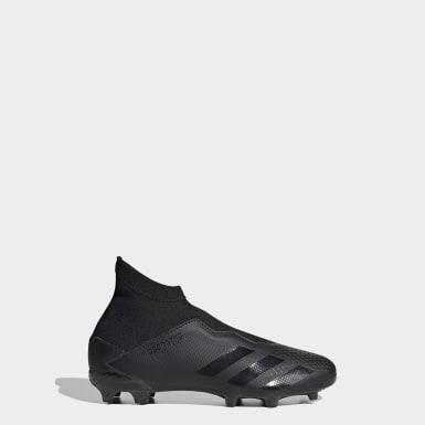 Botas de Futebol Predator 20.3 – Piso Firme Preto Rapazes Futebol
