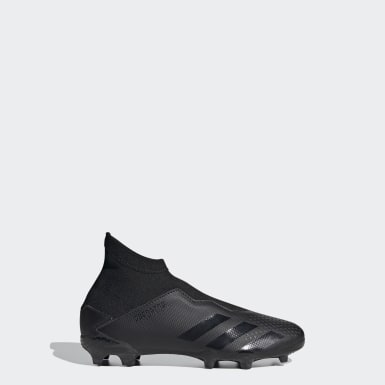 Boys Football Black Predator 20.3 Firm Ground Boots