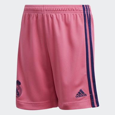 Børn Fodbold Pink Real Madrid 20/21 udebaneshorts