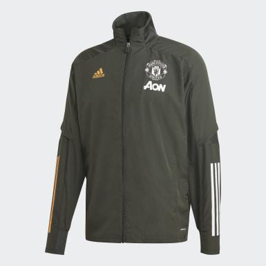 Mænd Fodbold Grøn Manchester United Presentation jakke