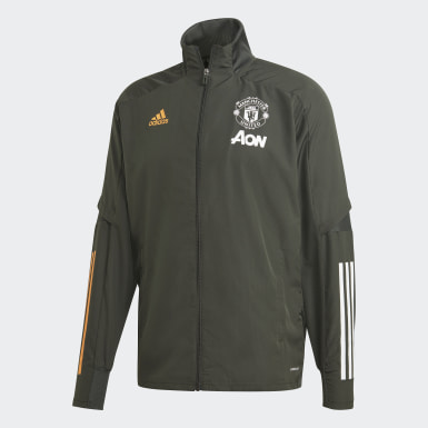Men Football Green Manchester United Presentation Track Top
