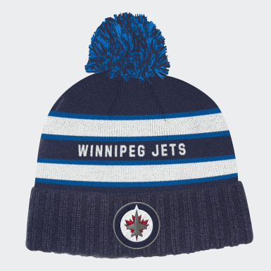 Men Hockey Multicolor Winnipeg Jets Cuffed Knit Pom Hat