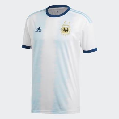 Maillot Argentine Domicile Blanc Hommes Football