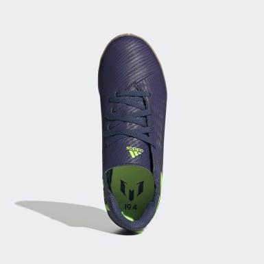 Boys Fodbold Blå Nemeziz Messi 19.4 Indoor støvler