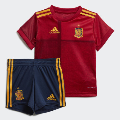 Kids Football Red Spain Home Baby Kit