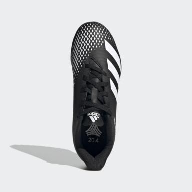 Children Soccer Black Predator Mutator 20.4 Turf Shoes