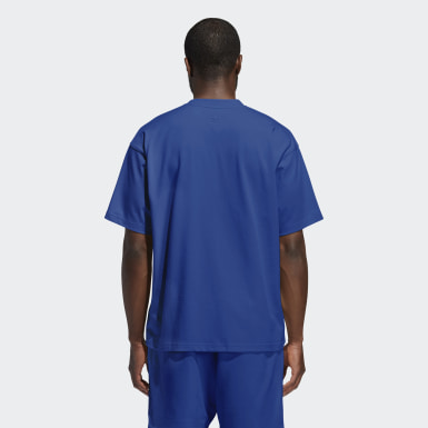 Originals Pharrell Williams Basics T-Shirt – Genderneutral Blau