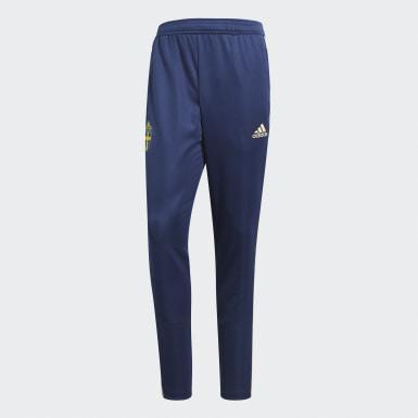 Männer Fußball Schweden Trainingshose Blau