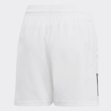 Boys Padel Tennis White 3-Stripes Club Shorts