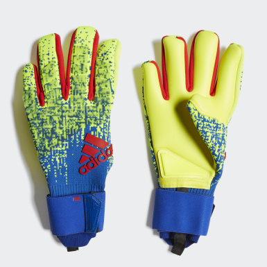 Men Football Yellow Predator Pro Gloves
