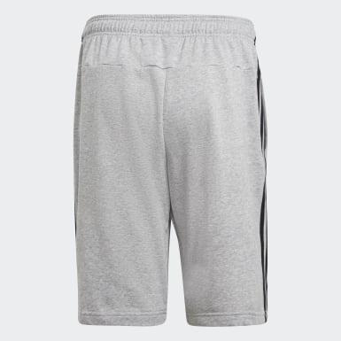 ผู้ชาย โยคะ สีเทา กางเกงผ้าเฟรนช์เทอร์รีย์ขาสั้น Essentials 3-Stripes