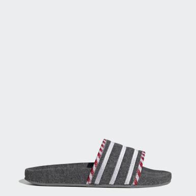 Originals Grå adilette sandaler