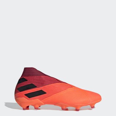 Bota de fútbol Nemeziz 19+ césped natural seco Naranja Fútbol
