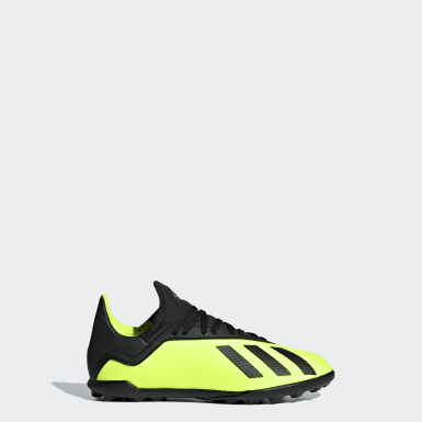 Kids Football Yellow X Tango 18.3 Turf Boots