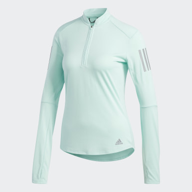 Women Running Turquoise Own the Run Long-Sleeve Top