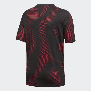 черный Домашняя предматчевая футболка Манчестер Юнайтед