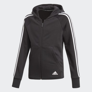 Kids Training Black Must Haves 3-Stripes Hoodie