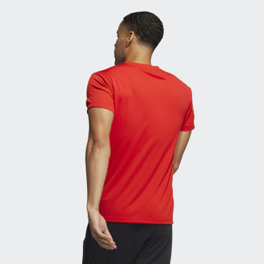 Men Training Red AEROREADY 3-Stripes Tee