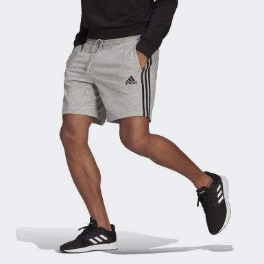 Shorts AEROREADY Essentials 3-Stripes Cinza Homem Estilo Esportivo