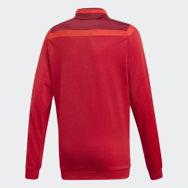 Børn Træning Rød Tiro 19 Polyester jakke