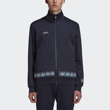 Track Top New Order x adidas SPZL Bleu Hommes Originals