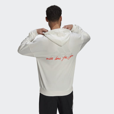 Men Athletics White Hoodie