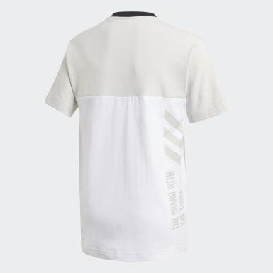 เด็กผู้ชาย โยคะ สีขาว เสื้อยืด Branded