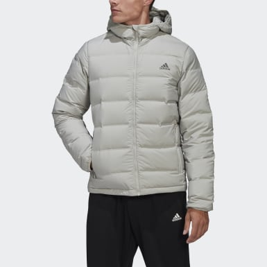 Helionic Hooded Down Jacket Szary