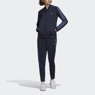 Women Sport Inspired Blue Essentials 3-Stripes Track Suit