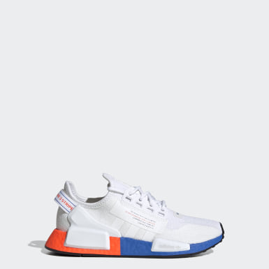 Kids Originals White NMD_R1 V2 Shoes