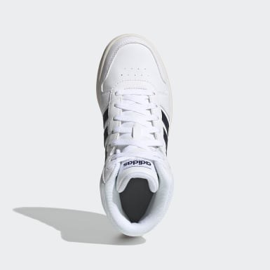 Children Essentials White Hoops 2.0 Mid Shoes
