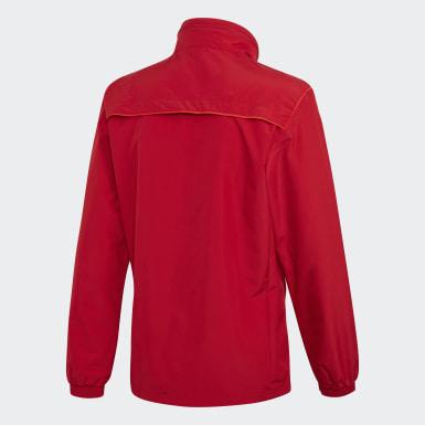 Mænd Fodbold Rød Tiro 19 All-Weather jakke