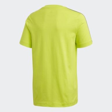 Jungen Athletics Essentials 3-Streifen T-Shirt Grün