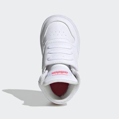Sapatos Hoops 2.0 Mid Branco Criança Basquetebol