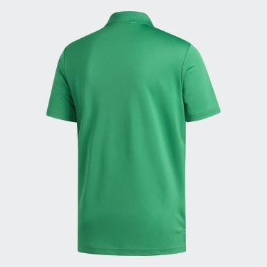 Men Golf Green Performance Polo Shirt