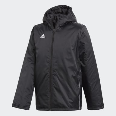 Barn Fotboll Svart Core 18 Stadium Jacket