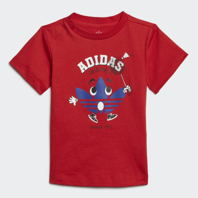 Kinderen Originals Rood Short en Shirt Setje