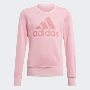 Girls Sport Inspired Pink Essentials Sweatshirt