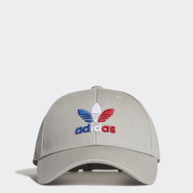 Cappellino Trefoil Baseball Grigio Originals