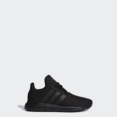 เด็ก Originals สีดำ รองเท้า Swift Run