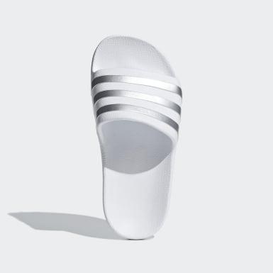 เด็ก ว่ายน้ำ สีขาว รองเท้าแตะ Adilette Aqua