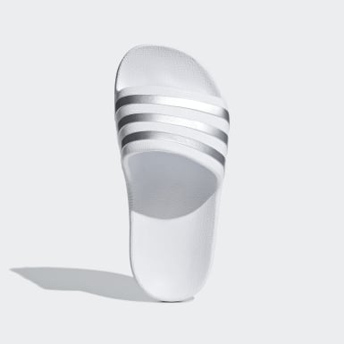 Děti Plavání bílá Pantofle Adilette Aqua