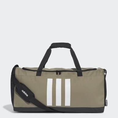 Lifestyle Green 3-Stripes Duffel Bag Medium