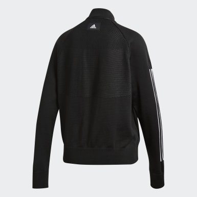 Women Athletics Black ID Bomber Jacket