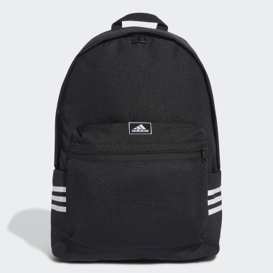 Lifestyle Black Classic 3-Stripes Backpack