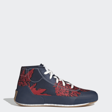 Frauen adidas by Stella McCartney adidas by Stella McCartney Treino Mid-Cut Print Schuh Blau