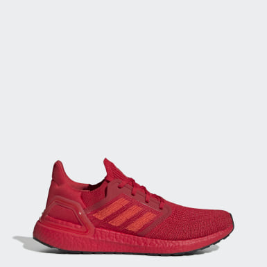 Men Running Red Ultraboost 20 Shoes