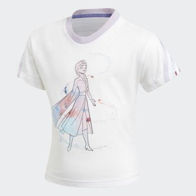 Mädchen Training Frozen Sommer-Set Weiß