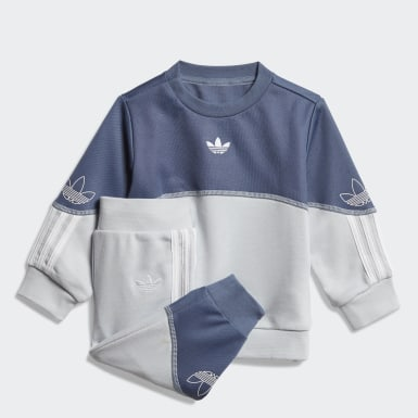Kids Originals Blue Outline Crew Set